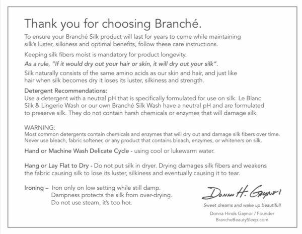 Branche Charmeuse Case Silver Blush White care